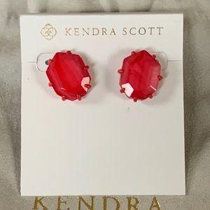Kendra Scott Morgan Red Earring NWT